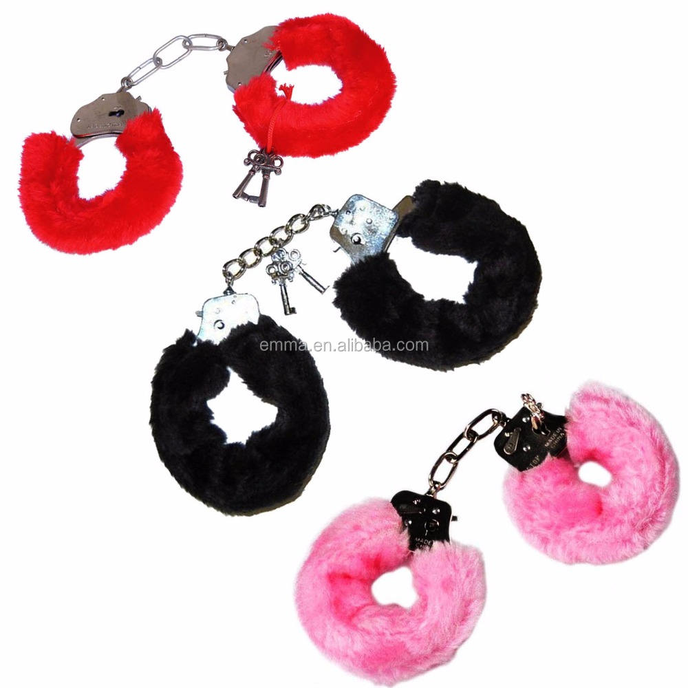 Fuzzy ladies handcuffs adult fun hen party handcuffs HK12024
