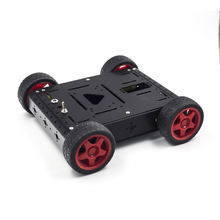 High Quality Metal Tank Robot Smart Car Chassis Black for UNO R3