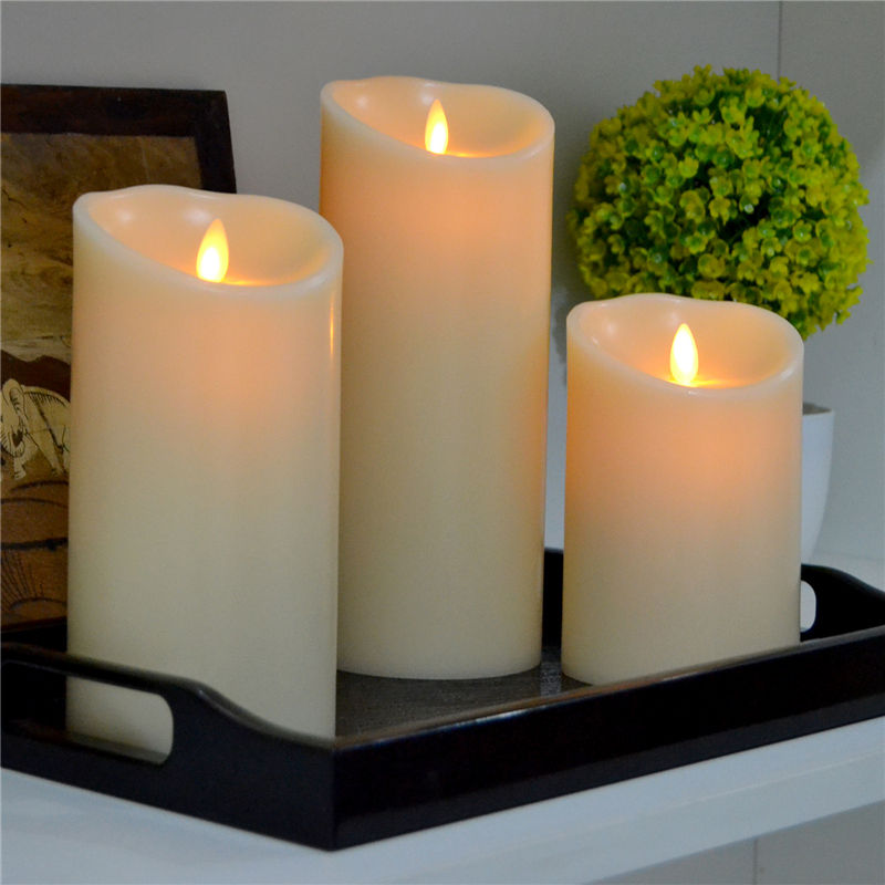 Hot Jual 5 Jam Timer Dancing Flame Moving Wick Flameless LED Candle,,