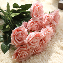 cheap bottom price colourful artificial silk rose flower