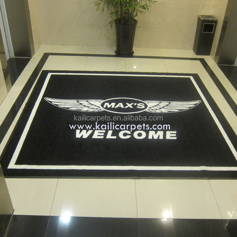 Customized 100% Nylon Printed Door Mat Welcome Rubber Backed Washable Garage Doormat Floor Door Mat