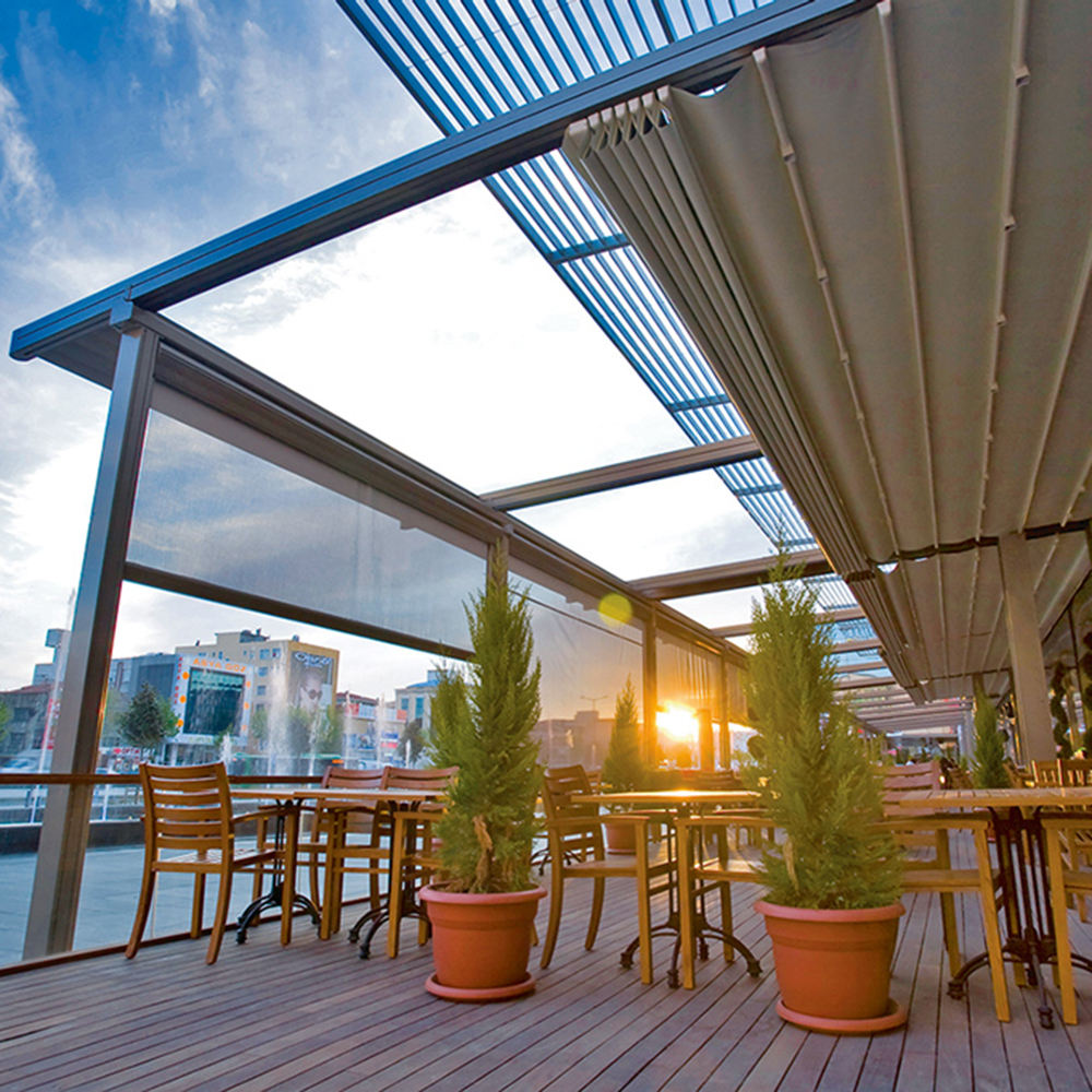 electric retractable rain roof pergola sliding roof retractable roof systems for restaurant
