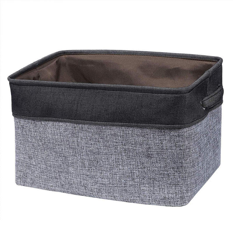 Fabric Foldable Storage Cube Box with Handle for Home, Entryway, Bedroom, Playing Room, Office, Living Room