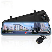 "10"" Dash cam Touch screen Cycle Recording Night Vision Dual Lens G-sensor 1080P Stream Rear View Mirror car cameras DVR"