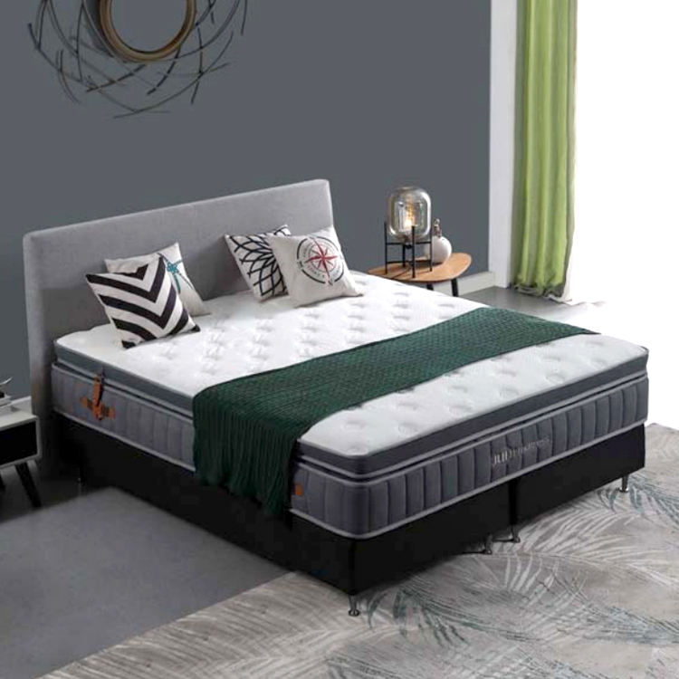 Visco latex gel memory foam twin double layer bed pocket spring mattress topper price