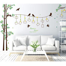 Twig flower bird photo tree wall stickers Mobile Creative Wall Applied With Decorative Wall Window Decoration