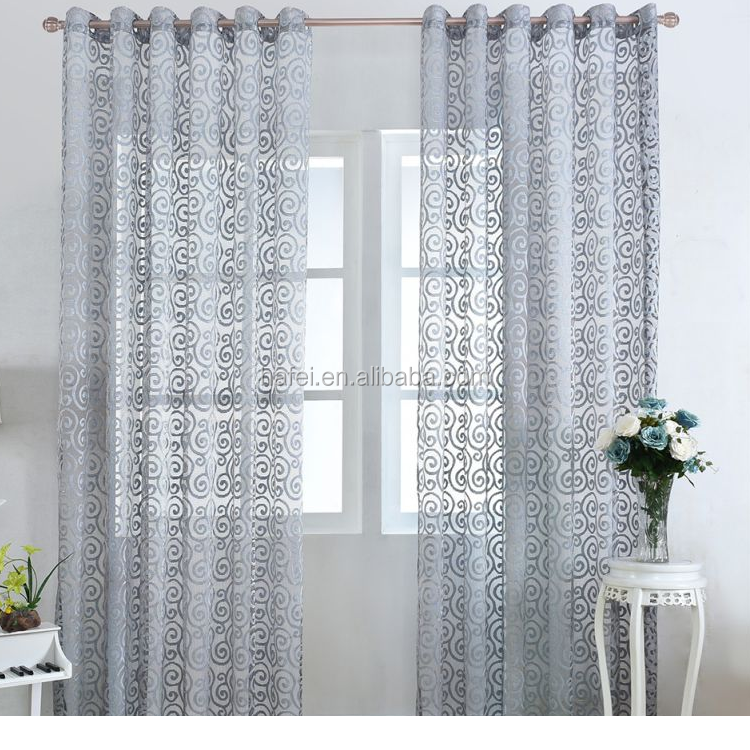 Turkish style cutwork fabric imported voile sheer curtains