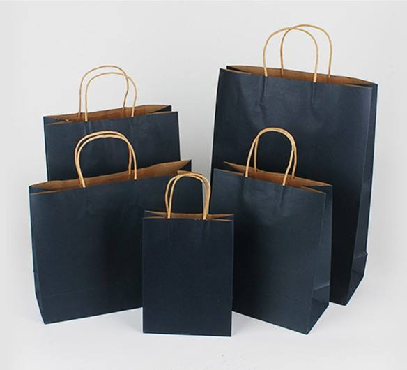 custom logo paper kraft shopping Packaging bag with handle