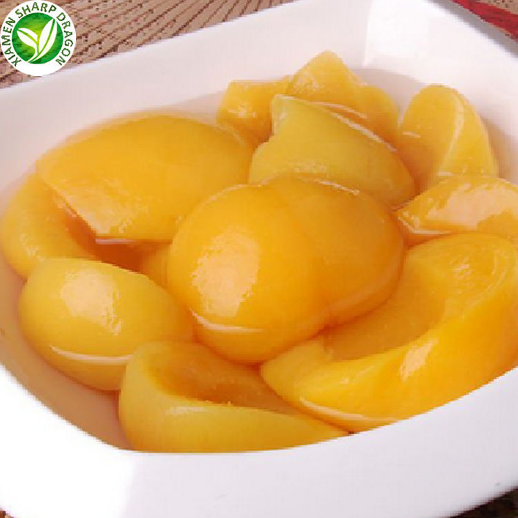 Wholesale line price best brands fruit slices canned halves yellow peach in light syrup