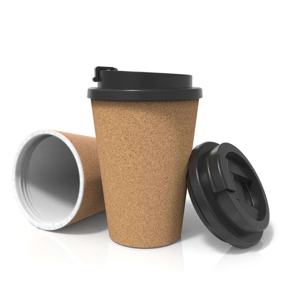 One-Stop Service Sale Cups Cork Coffee Mug Cheap Sale Hand Tumbler Cups Single Layer PP Eco-Friendly Cork Coffee Travel Mug Bamboo Coffee Cups