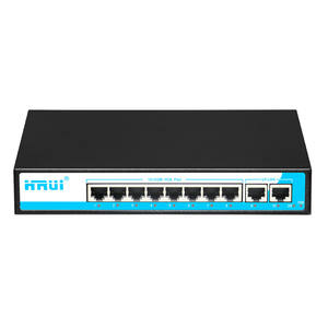 Porta ethernet 100 Mbps 24 V 8 reverso switch poe PD switch de Rede