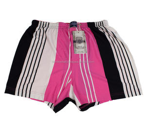Pink Gray Striped Men Underwear