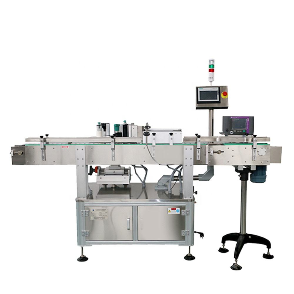 SKILT Factory price Automatic round bottle labeling sticking machine with printer