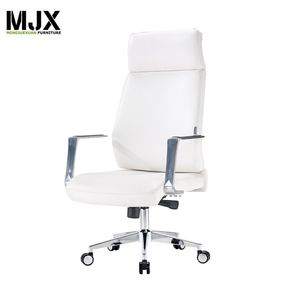 틸트 Function Ergonomic Executive 자 Swivel 편안한 압 연 자 와 팔 및 바퀴 PU Leather white
