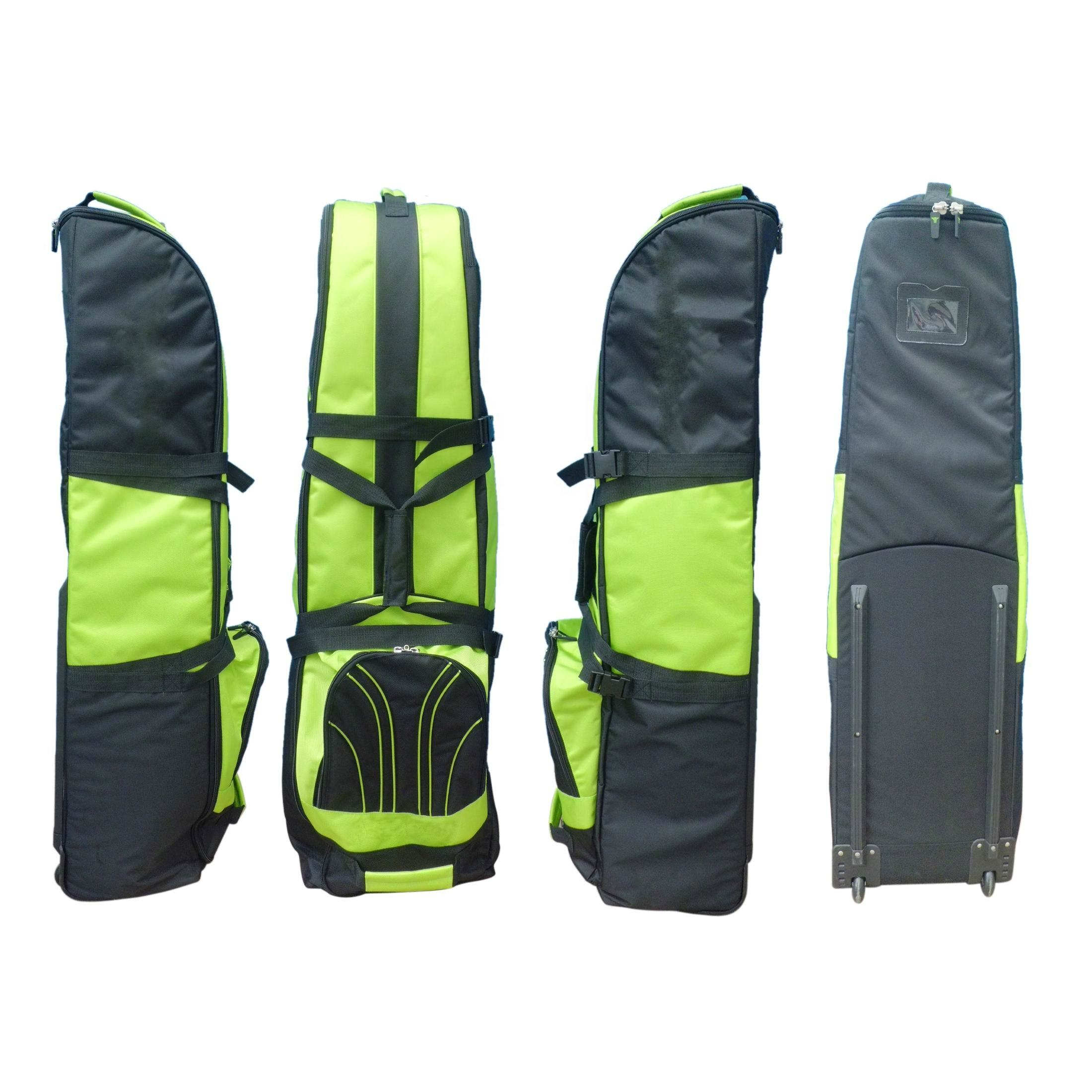 fluorescent green golf travel bag