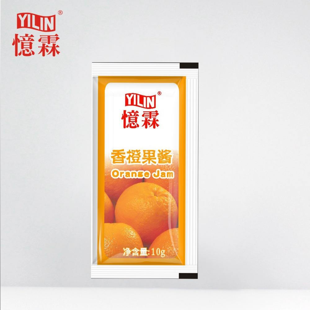 10g Yilin naturel orange fruits tropicaux confiture avec certification HACCP et ISO