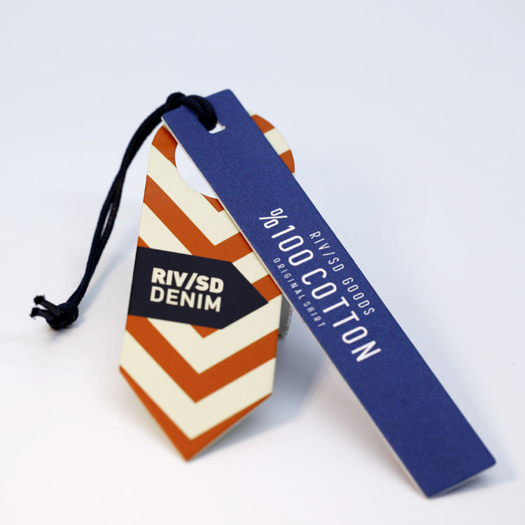 Custom design printed brand name logo paper swing tag