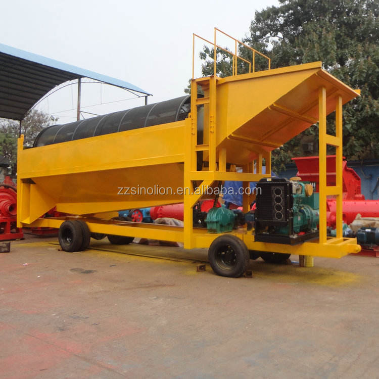 Small scale portable mobile gold trommel for gold wash plant popular in Ghana Australia Bolivia Brazil