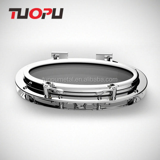 High quality hot sale stainless steel marine round polished portlights for boat or yacht