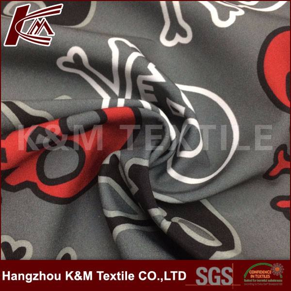 100% Polyester Skull Pattern In Vải Softshell