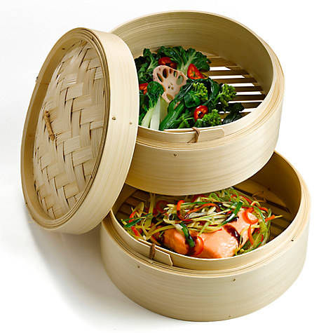 High Quality Bamboo Food Steamer Lifestyle Cookware