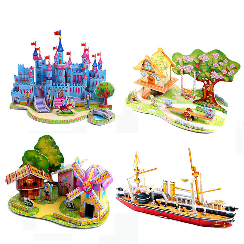 new design diy paper toys 3d jigsaw puzzles for adults