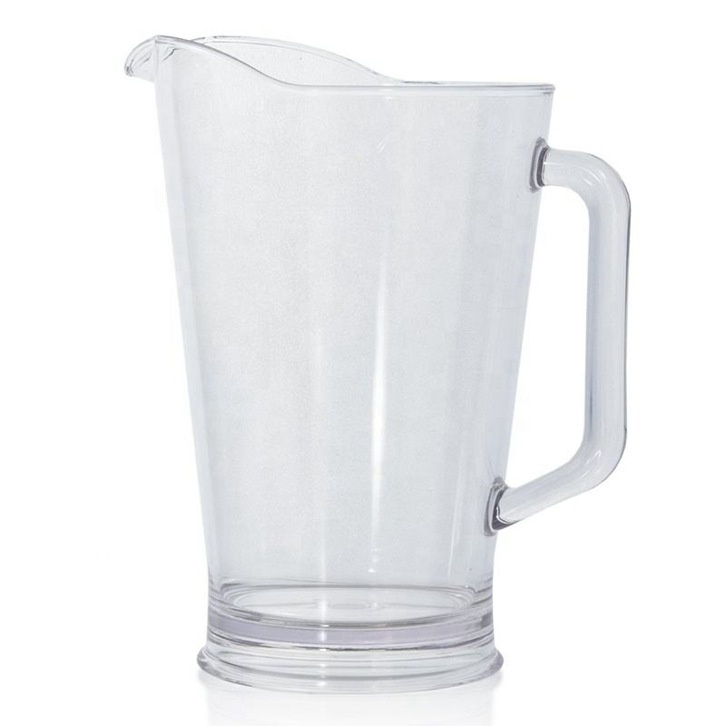 Wholesale restaurant style 64oz clear plastic water/beer pitcher