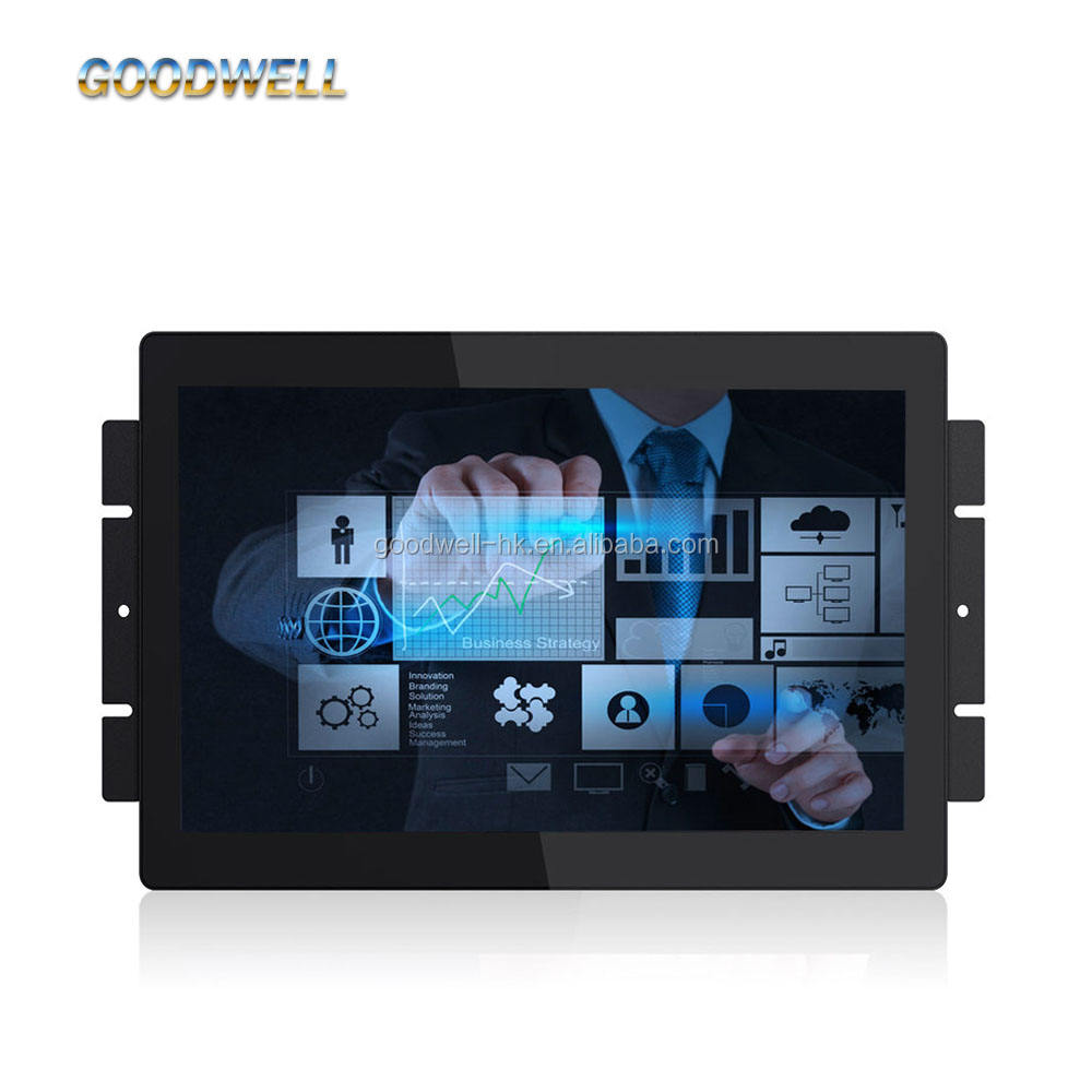 "New HDMI LCD Open Frame Monitor 13.3"" IPS Capacitive Multi Touch Screen with AV/VGA/HDMI/DVI Input 1920x 1080"