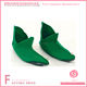 Green budget elf shoe covers with bells on the end