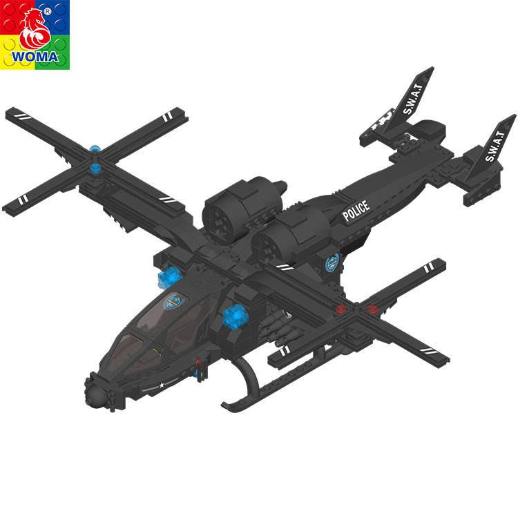 Popular Kid juguetes WOMA SWAT Policía Serie bloques de construcción