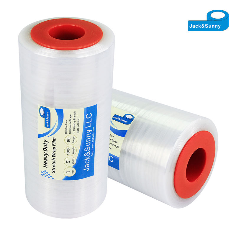 Lldpe transparan stretch film plastik gulungan folie