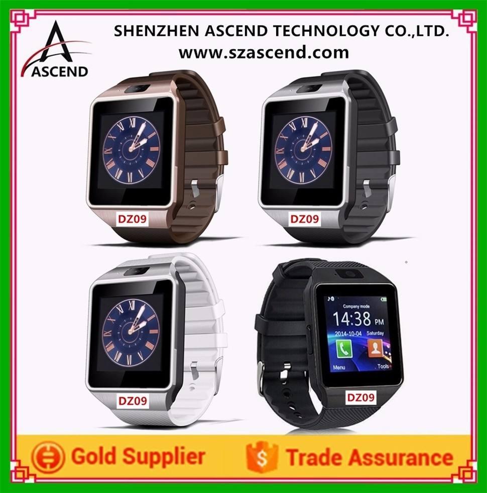 Dz09スマート腕時計電話ワイヤレスsimサムスンandroid iphone ios lg htc電話マニュアル