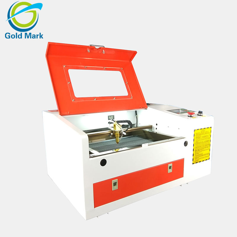 TS4030 50W small acrylic laser engraving and cutting machine with CO2 glass laser tube Ruida system