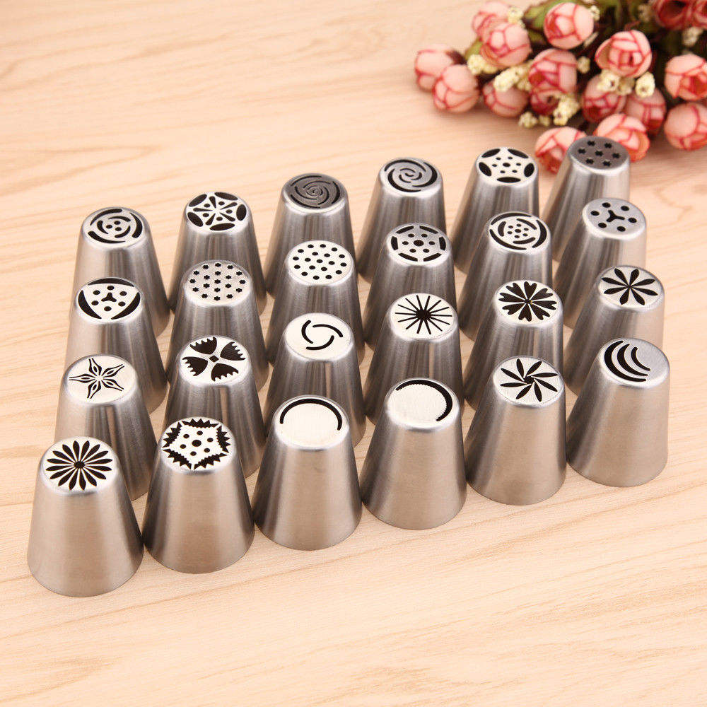 New Design Russian Stainless Steel Pastry Icing Nozzles Cake Tips