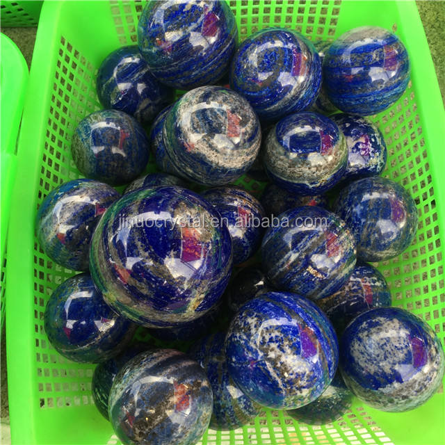 natural quartz lapis lazuli crystal ball for sale