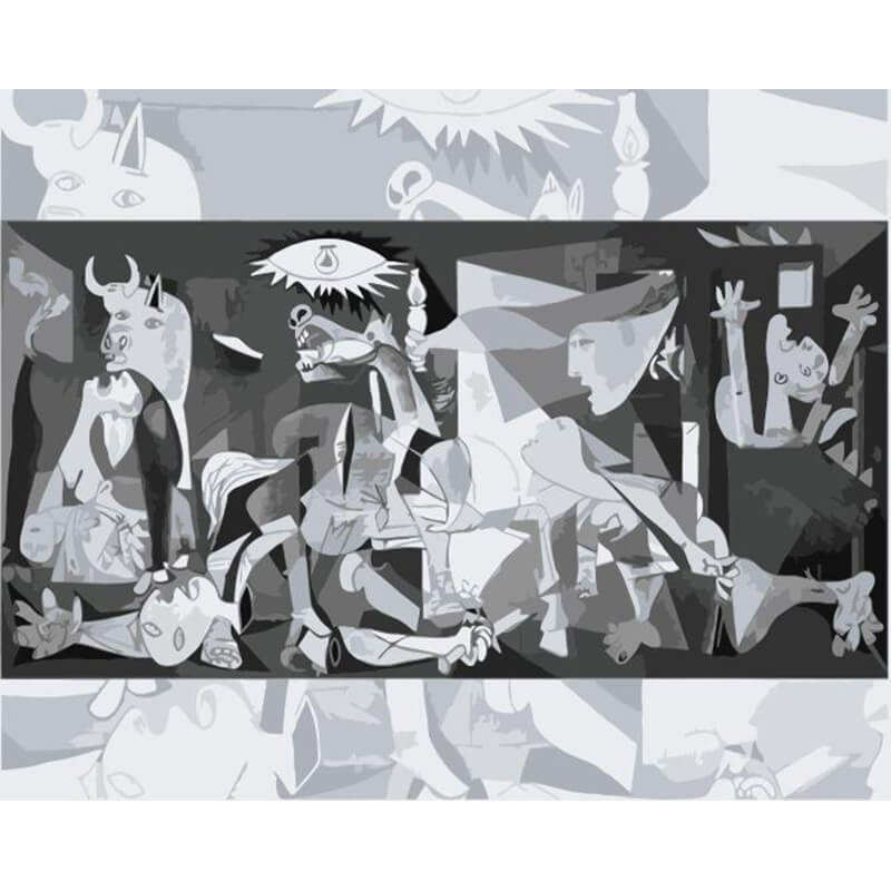 ROYALDREAM guernica diy famous oil painting abstract canvas oil paint by number on canvas