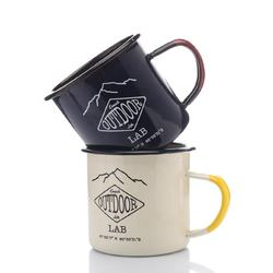 Factory wholesale 8oz custom coffee enamel camping mug
