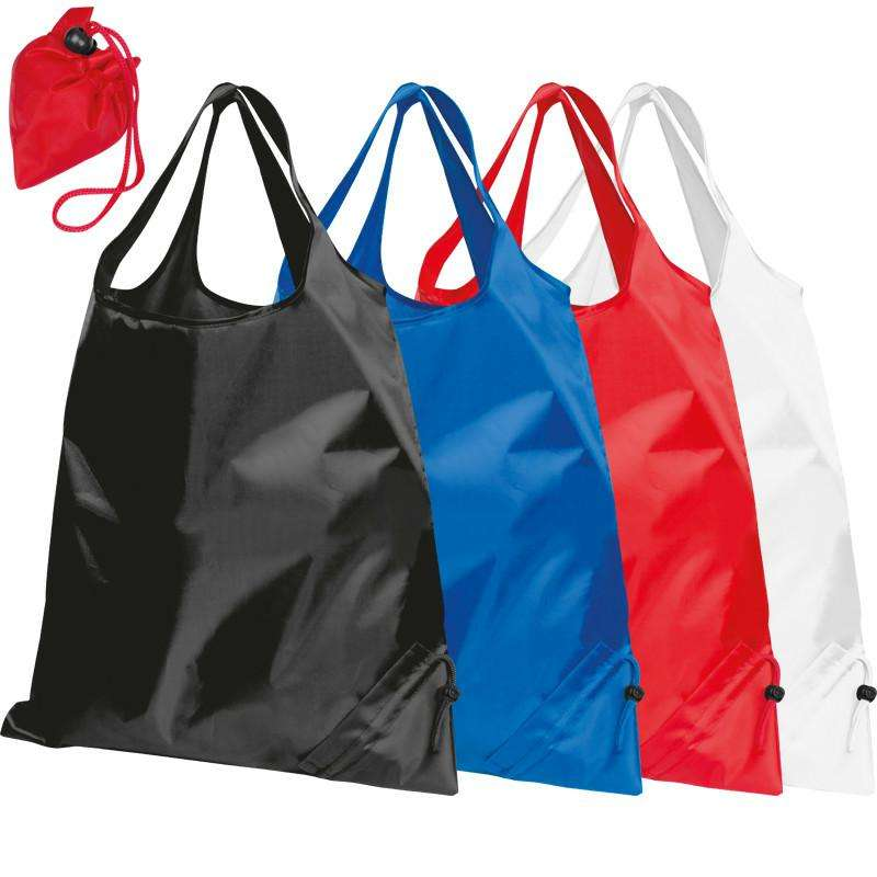 high quality eco pouch waterproof folding nylon foldable polyester tote shopping bag with printing logo