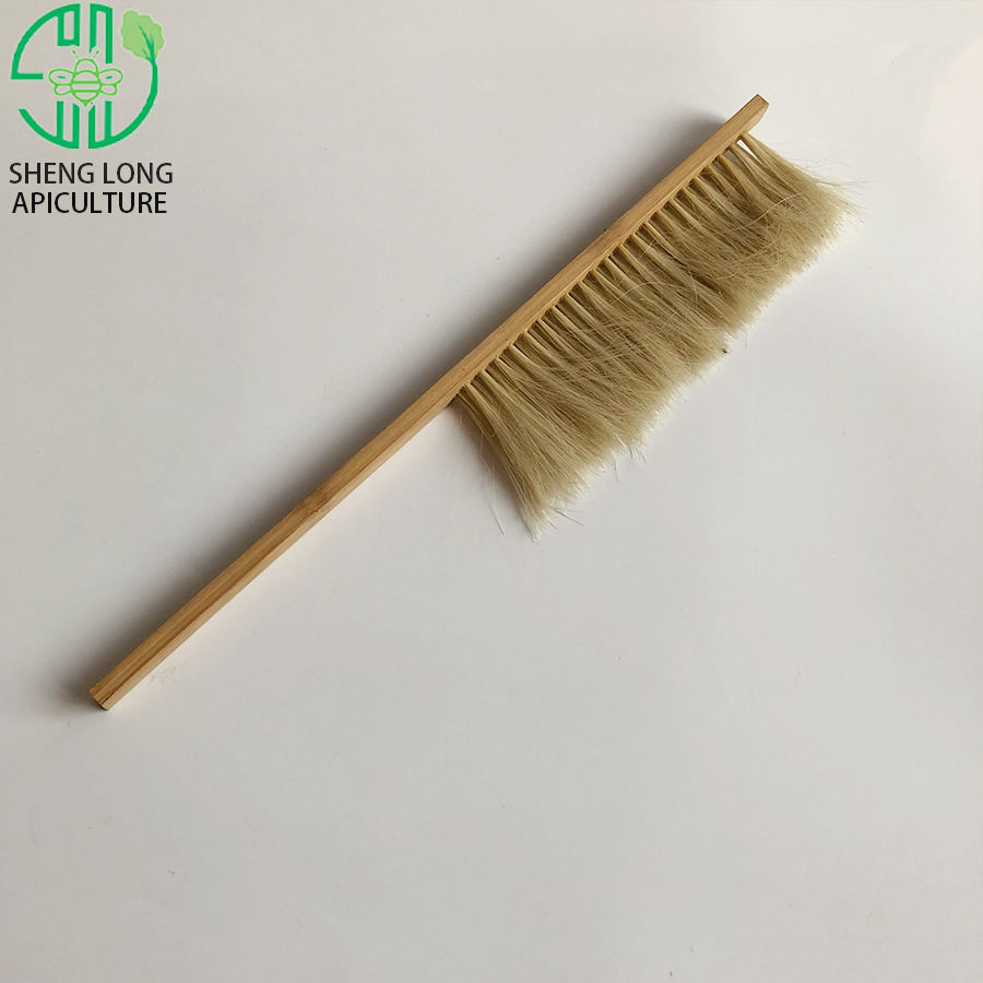 Tool Beehive Supplies Equipment Hair Honey Double And Single Bristle Beekeeping With Holder 2 Rows Horse Tail Bee Brush