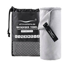 wholesale sweat absorbing printed microfiber sport fitness custom gym towel with mesh bag
