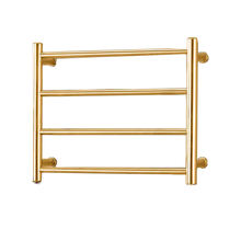 2019 New wholesale electric heated rose gold towel warmer rack /Towel drying rack