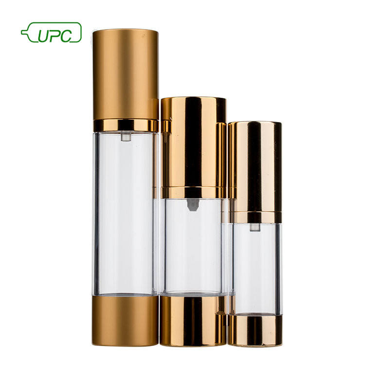 Golden or silver 15ml/30ml/50ml spray luxurious clear cosmetic glass bottle
