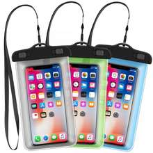 Water proof cell phone bag  PVC waterproof phone case for iphone X Xs Xr for iphone 12 pro max mobile phone bags cases