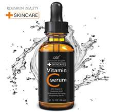 Roushun Vitamin C Serum with Hyaluronic Acid & Vit E - Natural & Organic Anti Wrinkle Reducer Formula for Face Facial Serum