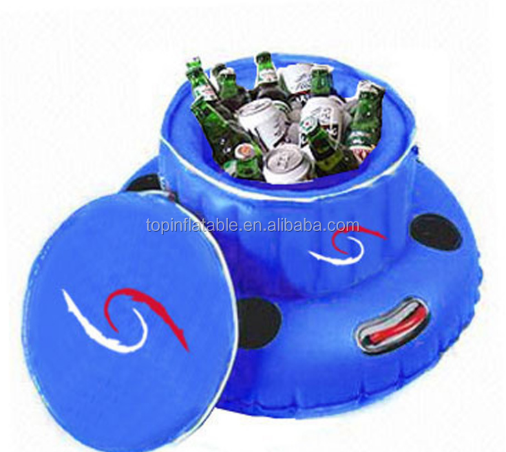 wholesale customized size inflatable drink ice bucket Champagne Ice beer cooling bucket