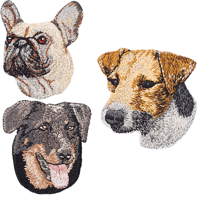 Factory directly animal embroidery patch with DOG