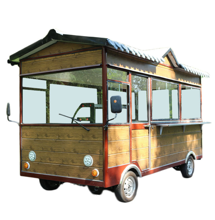 Hot sale street view mobile electric dining car ice cream trucks food cart with CE ISO approved