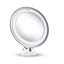 2019 Version 10X Magnifying Makeup Vanity Mirror With Lights, LED Lighted Portable Hand Cosmetic Magnification Light up mirror