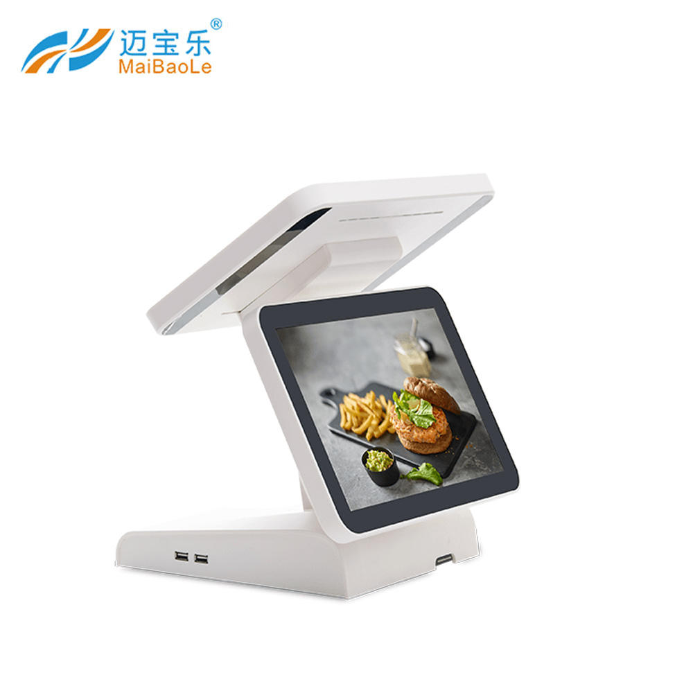 Fabriek POS Alles In Een Dual screen touch screen pc windows Android pos machine voor restaurant