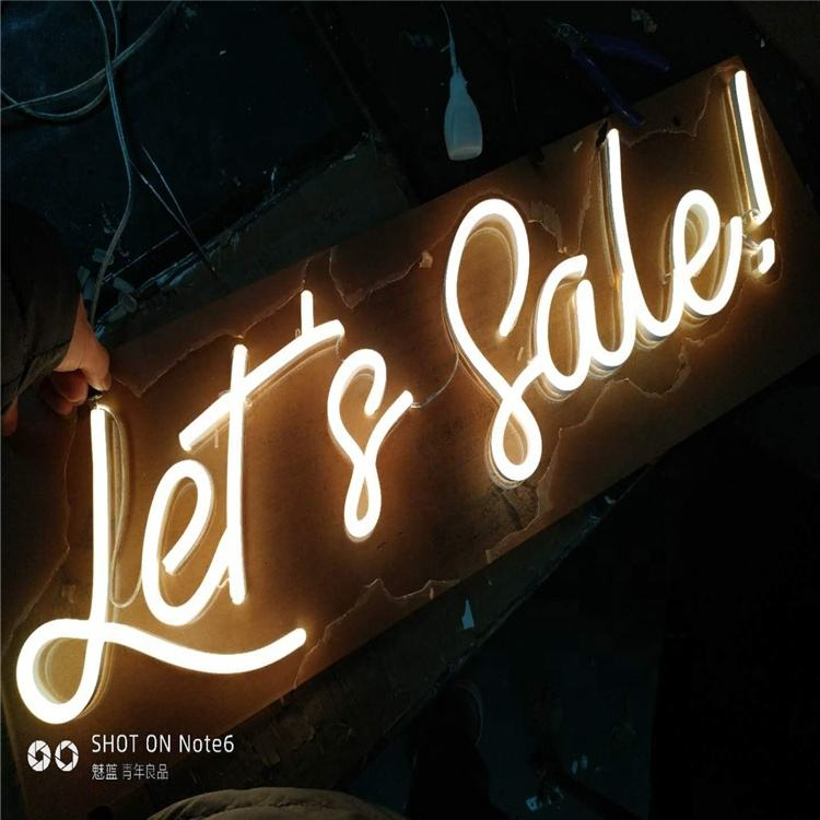 Letters Words figure Led Neon Sign professional custom unbreakable acrylic led neon sign